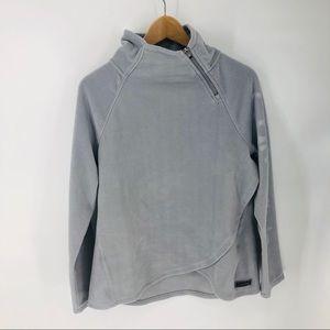 Calvin Klein asymmetrical crossed fleece pullover